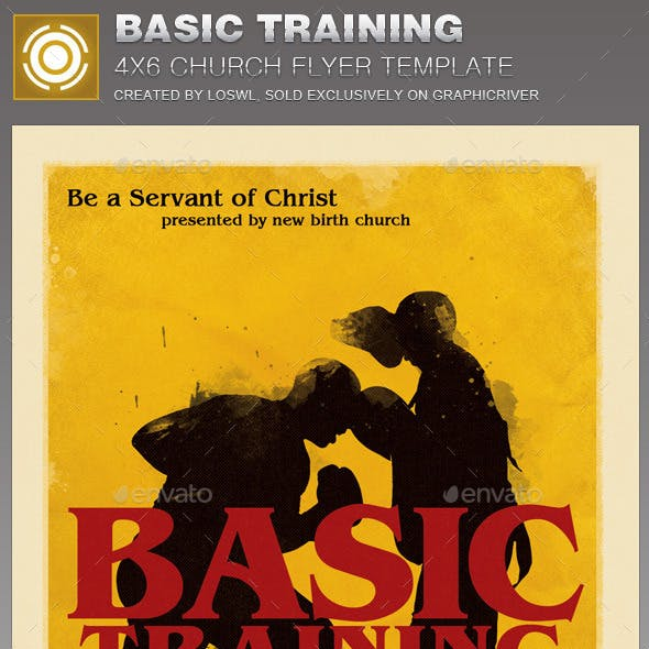 Basic  Training Church Flyer Template