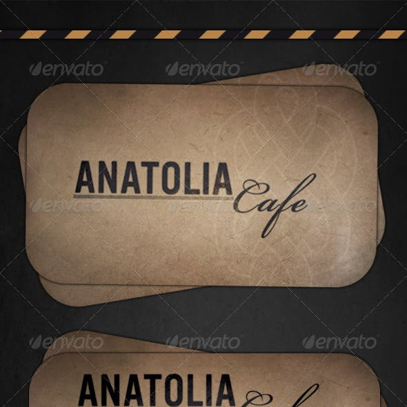 Cafe Grunge Business Card