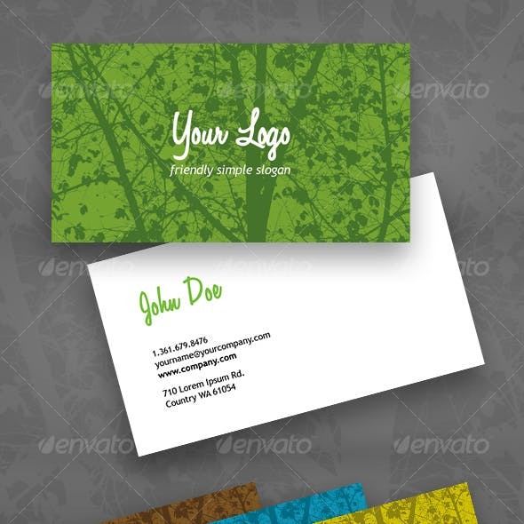 Eco Green business card