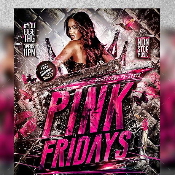 Flyer Pink Fridays Konnekt