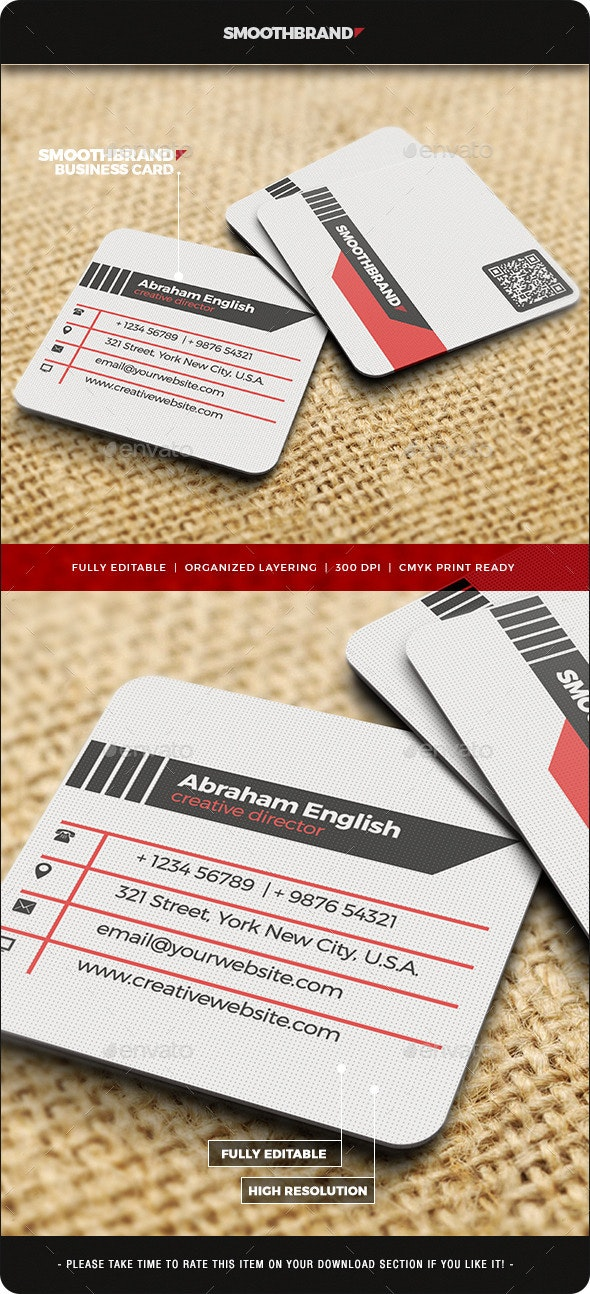 Square Business Card V.2 - Corporate Business Cards