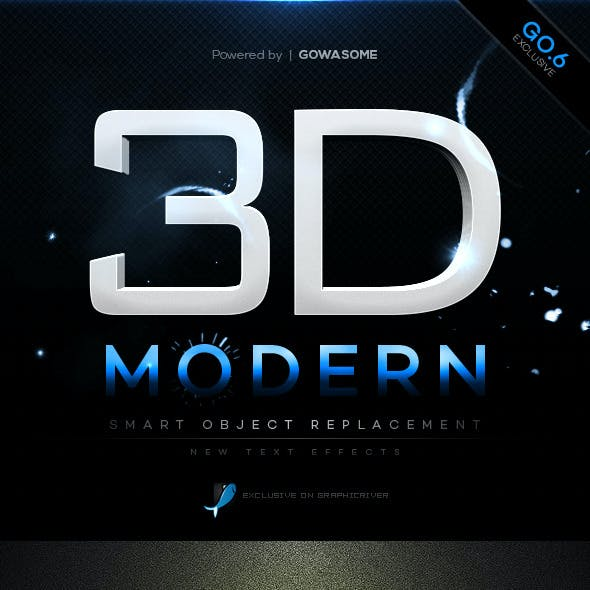Modern 3D Text Effects GO.6