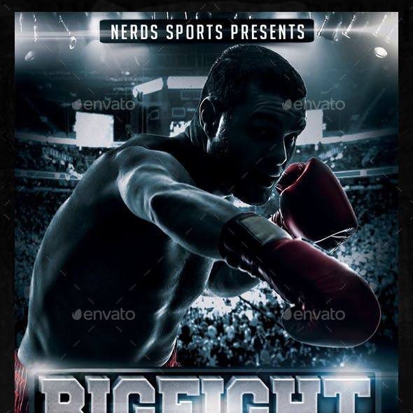 Big Fight Showdown Boxing Championships Flyer