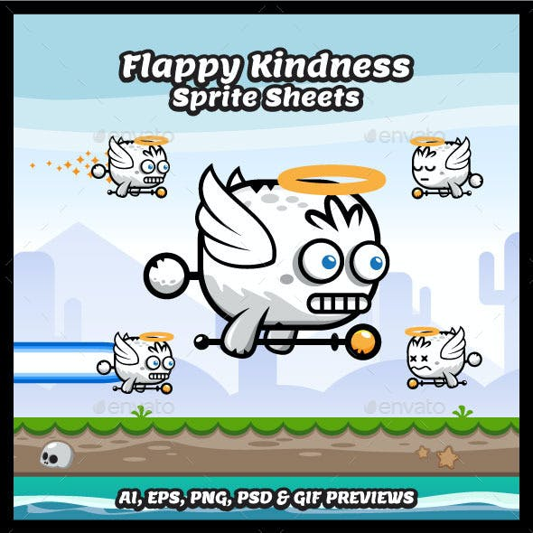 Game Character Flappy Kindness Sprite Sheets