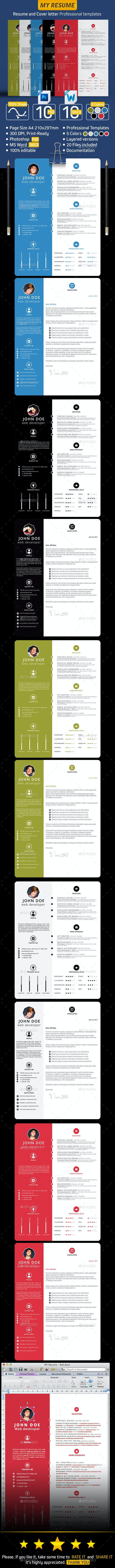MY RESUME » Resume and Cover letter. - Print Templates