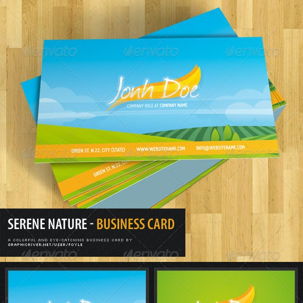 Serene Nature Business Card
