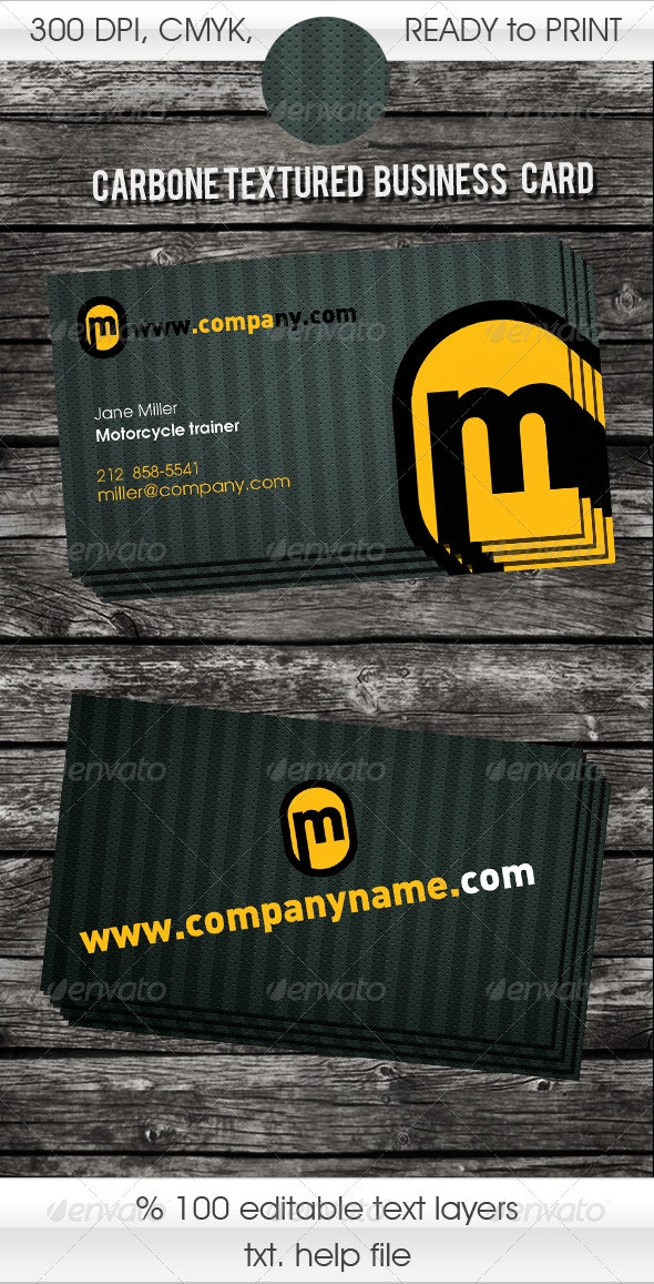 CATCHY designed carbone textured - Creative Business Cards