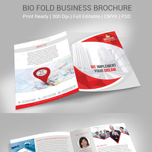 Business Bio Fold Brochure