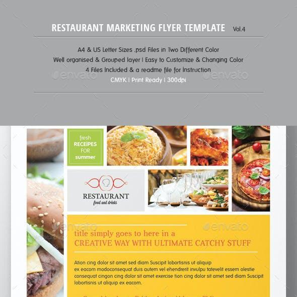 Restaurant Marketing Flyer Vol.3