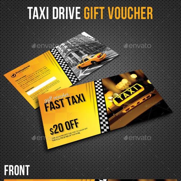 Taxi Drive Gift Voucher V01
