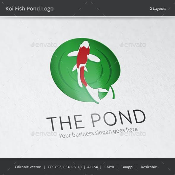 Koi Fish Pond Logo