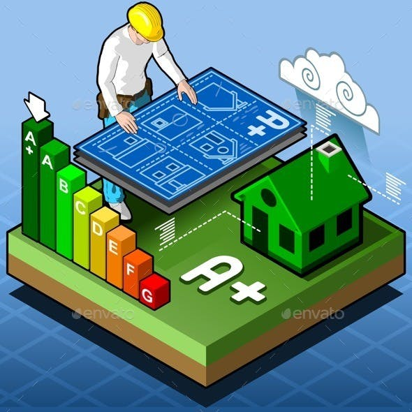 Isometric Infographic Energy Performance
