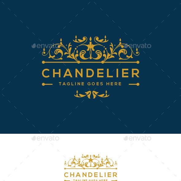 Chandelier Logo Template