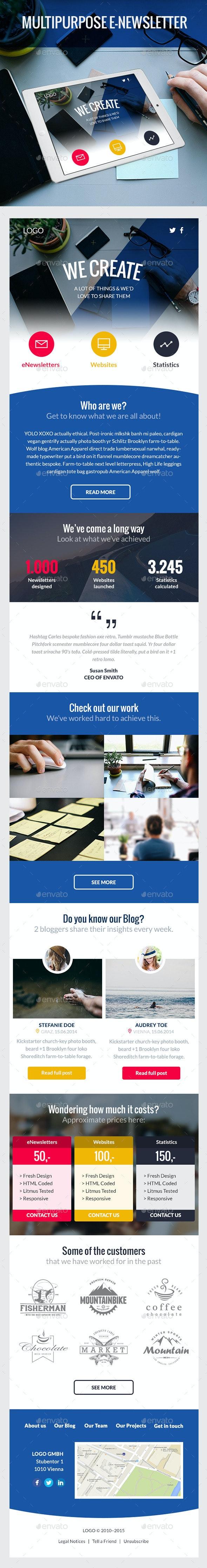 Mezze – Multipurpose e-Newsletter
