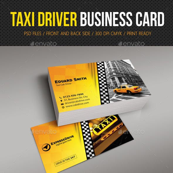 Taxi Driver Cab Business Card