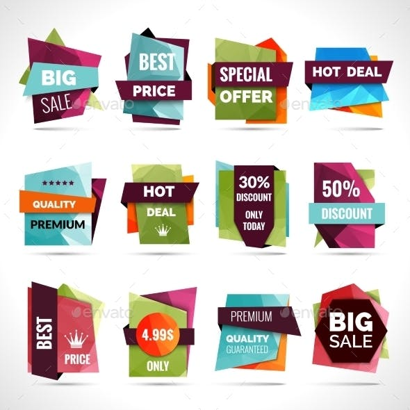 Origami Sale Labels
