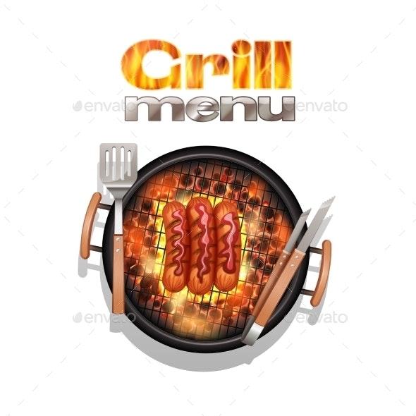 Grill Menu Design - Food Objects