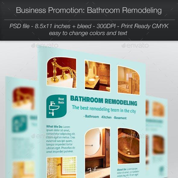 Business Promotion: Bathroom Remodeling