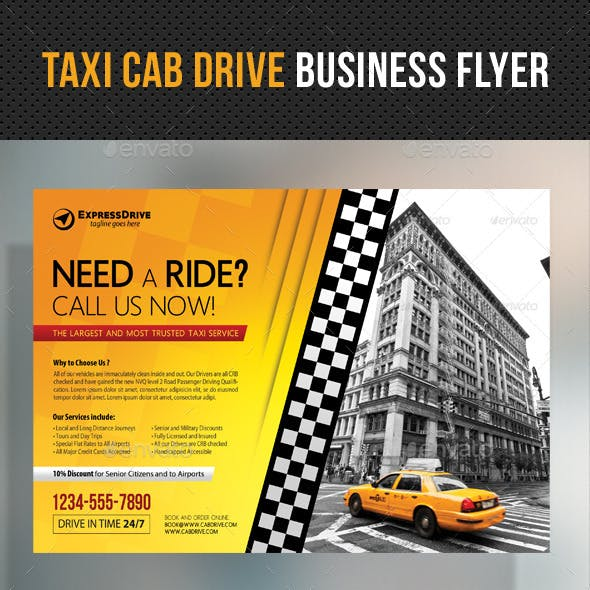 Taxi Cab Drive Business Flyer