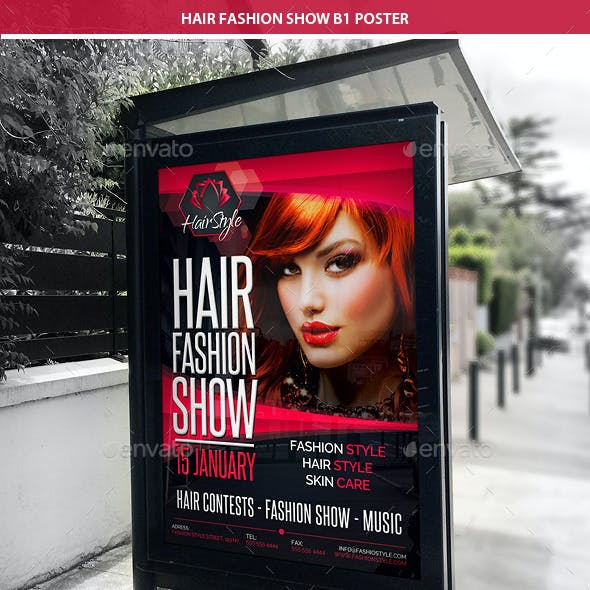 Hair Fashion Show Promotion B1 Poster