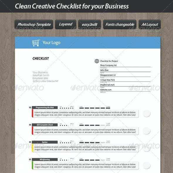 Clean Creative Checklist for your Business