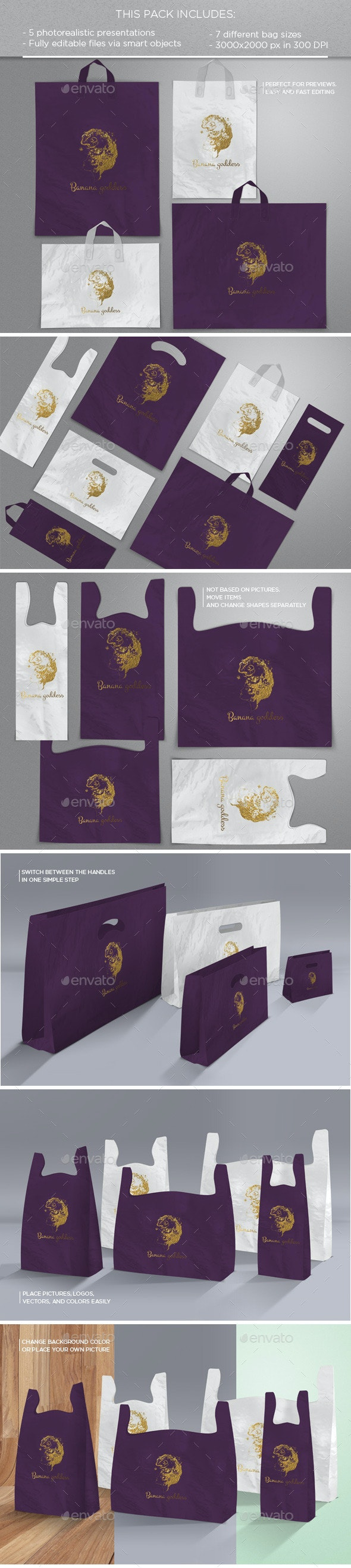 Plastic Bags Mockups - Miscellaneous Packaging