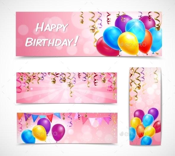 Celebration Banners Set - Birthdays Seasons/Holidays