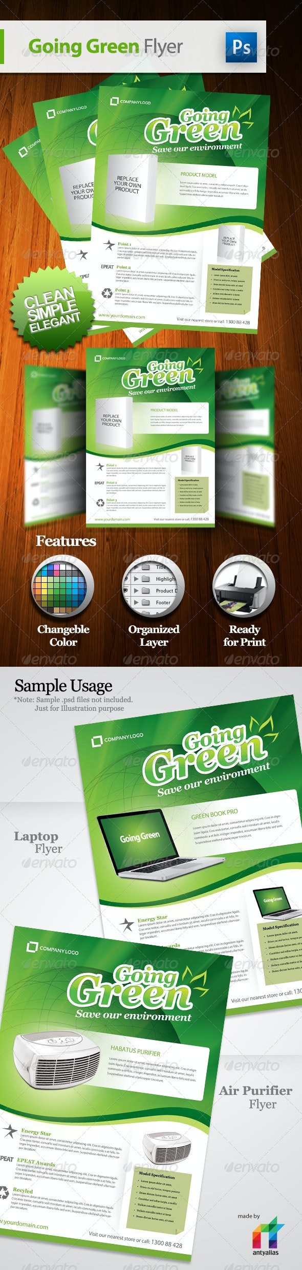 Going Green Product Flyer - Commerce Flyers