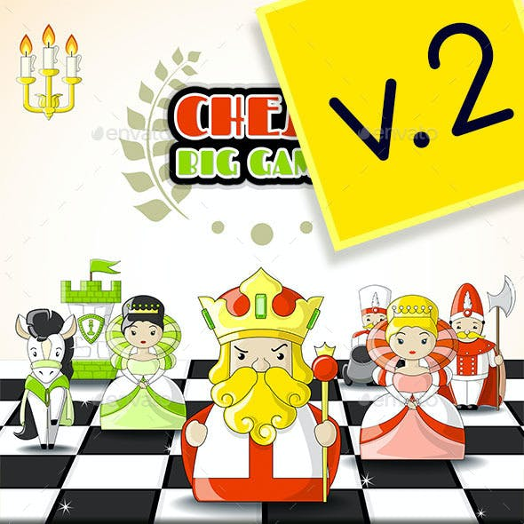 2D Cute Chess Game Kit