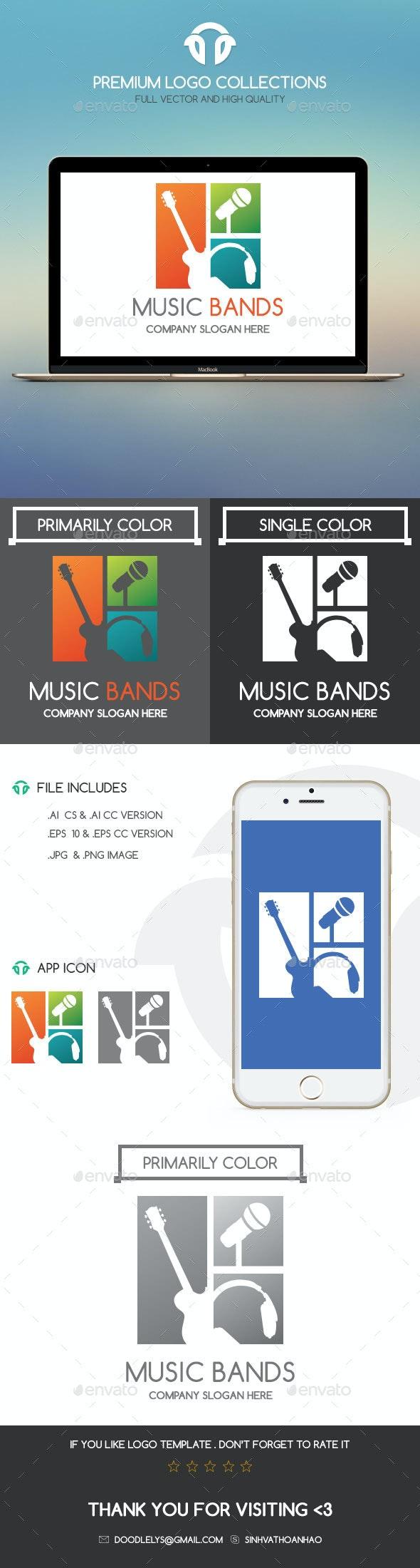 Music Bands - Humans Logo Templates