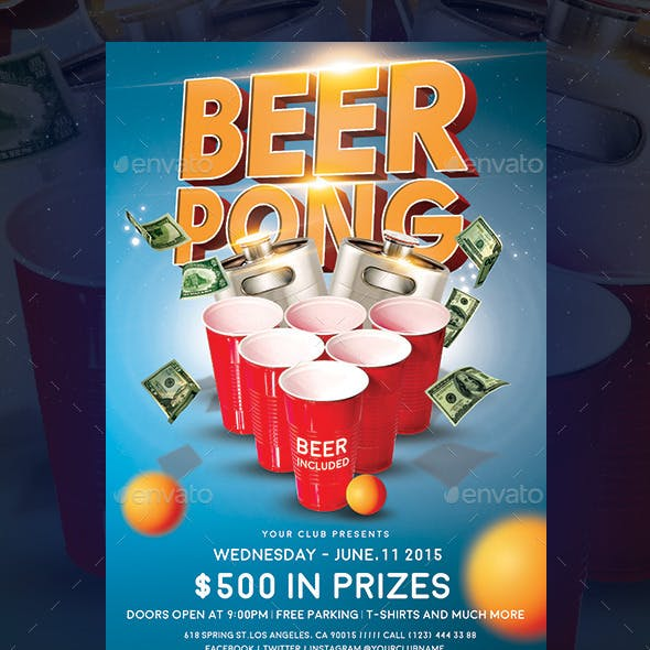Beer Pong Event Flyer