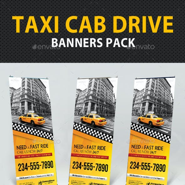 Taxi Cab Drive Banner Pack