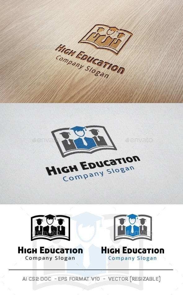 High Education Logo - College Logo Templates