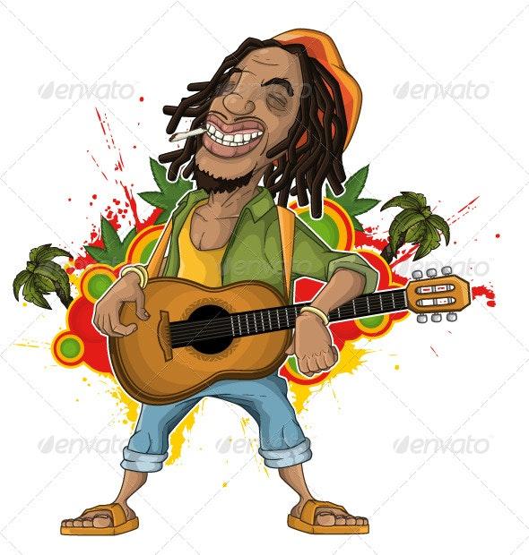 Reggae Artist - Characters Vectors