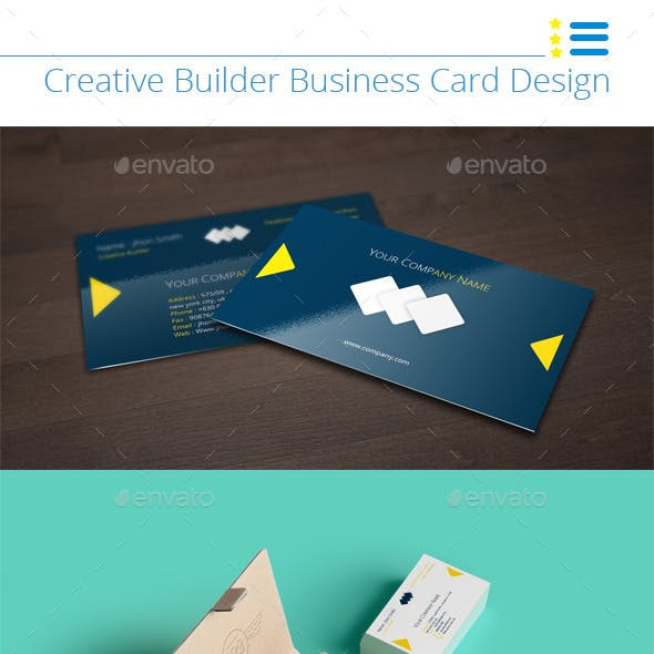 Creative Builder Business Card Design