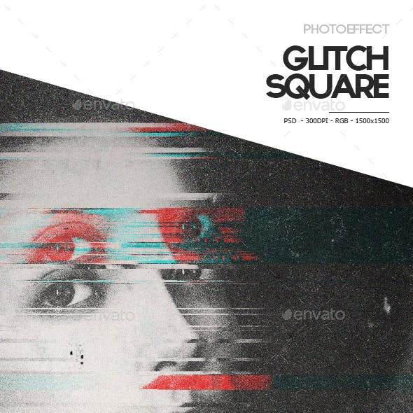 Glitch Square Photoeffect