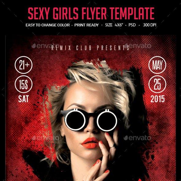 Sexy Girls Flyer Template