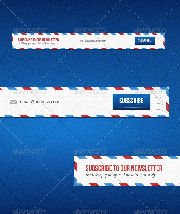 Newsletter Subscription Form - Forms Web Elements