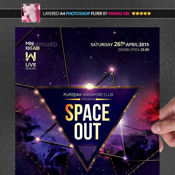 Space Out Poster/Flyer