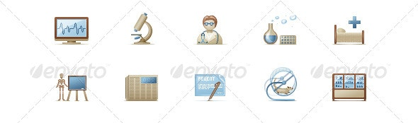 10 medical icons - Web Icons