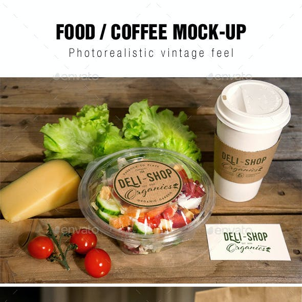 Food / Coffee Mockup