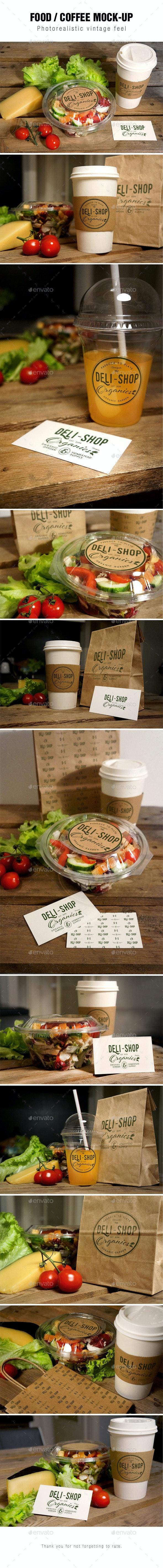 Food / Coffee Mockup - Food and Drink Packaging