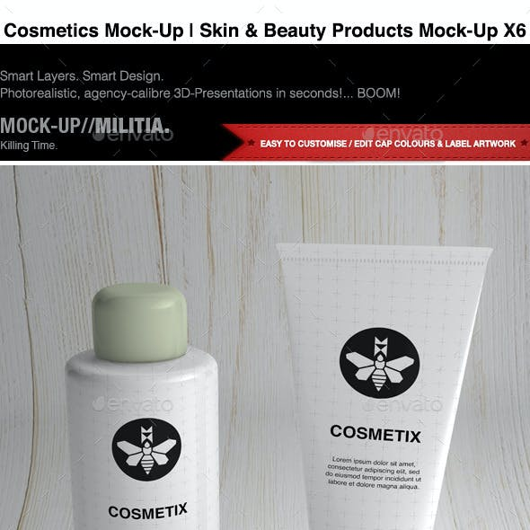 Cosmetics Mock-Up | Toiletries & Make Up Mock-Up