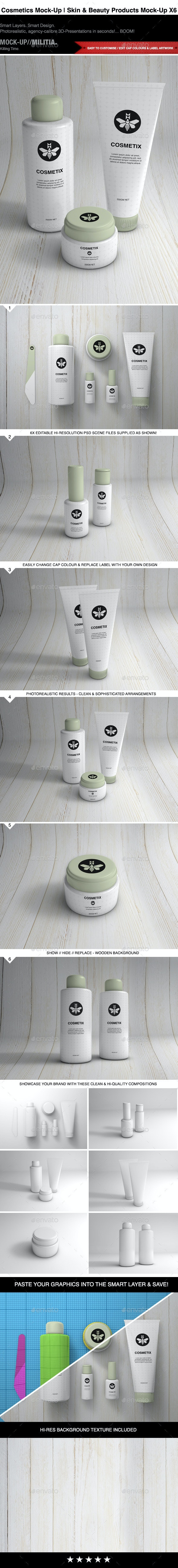 Cosmetics Mock-Up | Toiletries & Make Up Mock-Up - Beauty Packaging
