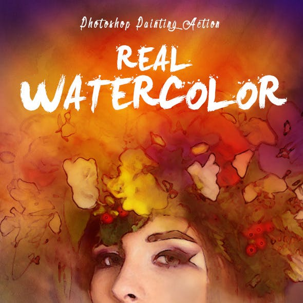 Real Watercolor Painting Photoshop Action