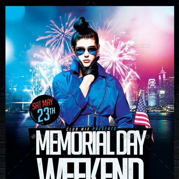 Memorial Day Weekend Flyer | Template PSD
