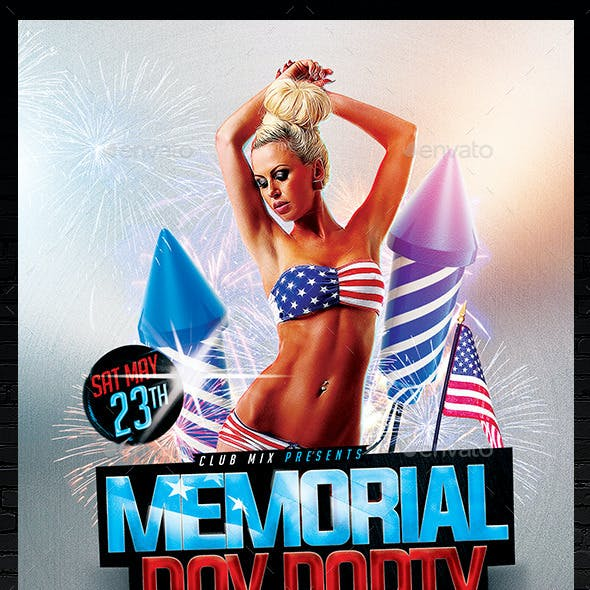 Memorial Day Party Flyer | Template PSD