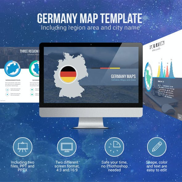 Germany Map - Editable Map Presentation