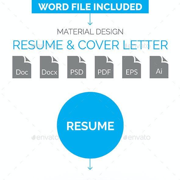 Material Design Resume & Cover Letter