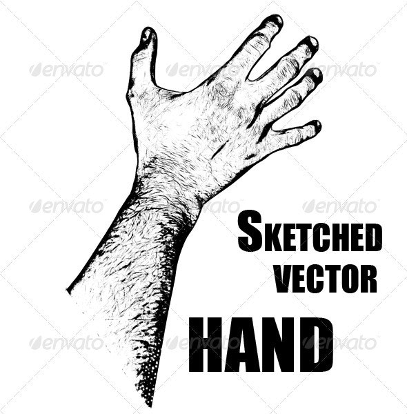 Skeched Vector Hand - Abstract Conceptual